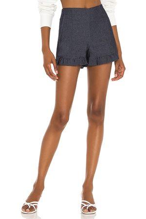 1. STATE Mujer Vaqueros - Short denim en color azul talla 0 en - Blue. Talla 0 (también en 2, 4, 6, 8, 10).