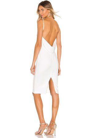Katie May Vestido midi pretty bird en color blanco talla M en - White. Talla M (también en XS).