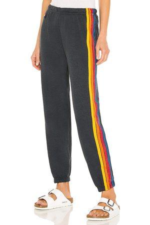 AVIATOR NATION Pantalón deportivo 5 stripe en color negro talla L en - Black. Talla L (también en XS, S, M).