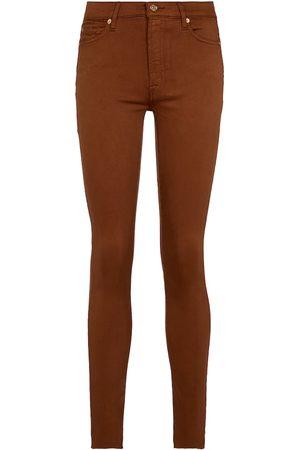 7 for all Mankind Mujer Cintura alta - Jeans Skinny Crop Slim Illusion