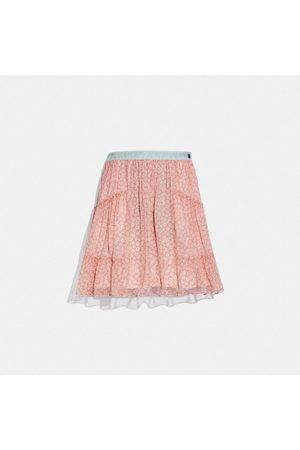 Coach Mujer Minifaldas - Minifalda de tela vaquera con cinturilla - Size 02