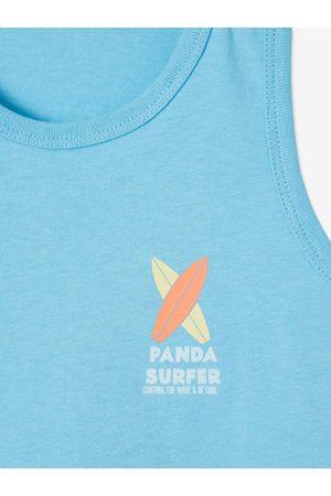 Vertbaudet Camiseta sin mangas Surf Fun para niño claro liso con motivos