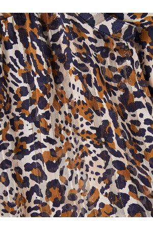 Vertbaudet Blusa para embarazo leopardo marron oscuro estampado