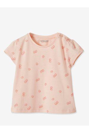Vertbaudet Lote de 2 camisetas bebé niña de manga corta con motivo frutas medio bicolor/
