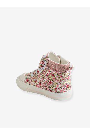 Vertbaudet Zapatillas de caña alta para bebé niña medio estampado