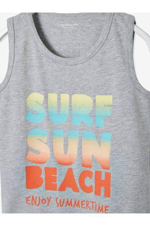Vertbaudet Camiseta sin mangas con motivo Surf Fun para niño claro jaspeado