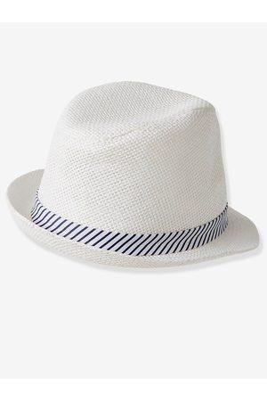 Vertbaudet Sombrero de ceremonia para bebé niño claro liso con motivos