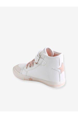 Vertbaudet Zapatillas de caña alta con purpurina especial autonomía, para niña medio liso