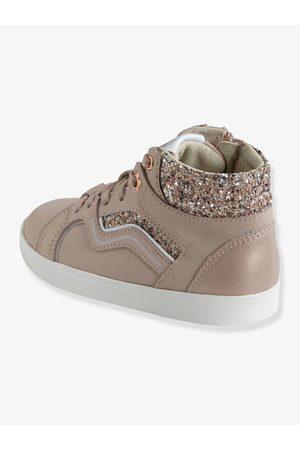 Vertbaudet Zapatillas de piel para niña especial autonomía claro liso con motivos