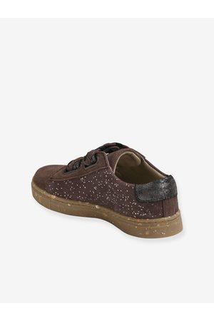 Vertbaudet Zapatillas de piel con cierre autoadherente para niña, especial autonomía medio estampado