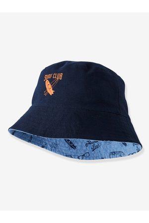 Vertbaudet Sombrero bob reversible para niño con motivos Hawái claro lavado