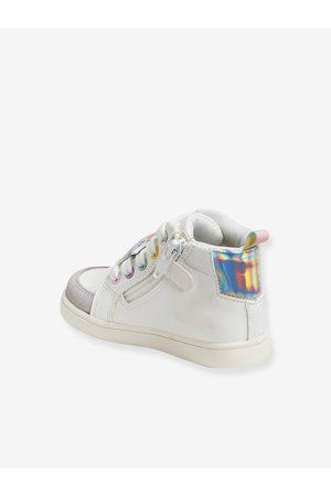Vertbaudet Zapatillas de caña alta con cordones, para niña claro liso con motivos