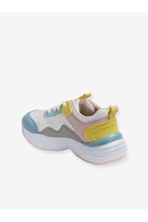Vertbaudet Zapatillas multicolor estilo running, para niña claro liso con motivos