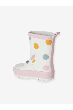 Vertbaudet Botas de agua de caucho para bebé niña medio estampado