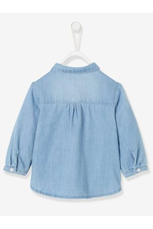 Vertbaudet Camisa vaquera lavada para bebé niña claro lavado
