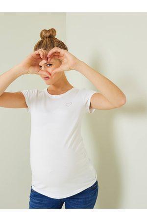 Vertbaudet Lote de 2 camisetas de manga corta, para embarazo medio jaspeado