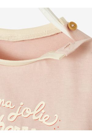 "Vertbaudet Camiseta de manga corta ""cerezas"" para bebé claro liso con motivos"