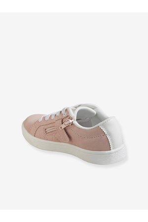 Vertbaudet Zapatillas de piel vuelta de color para niña claro liso