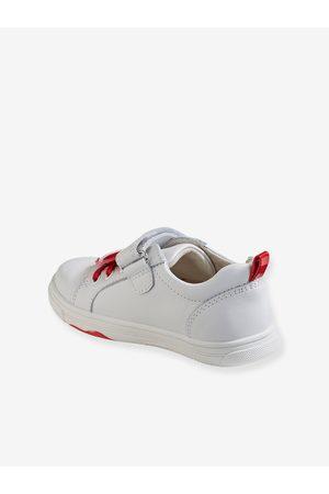 Vertbaudet Zapatillas de piel para niña, especial autonomía claro liso