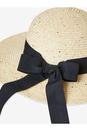 Vertbaudet Sombrero estilo capelina para niña claro liso con motivos