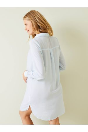Vertbaudet Camisa larga a rayas abotonada, de embarazo y lactancia claro a rayas