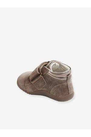 Vertbaudet Botines de piel primeros pasos, para bebé niña marron medio liso