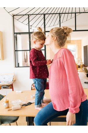 Vertbaudet Blusa con encaje de embarazo medio liso