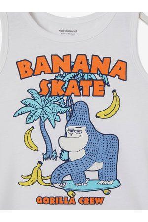 Vertbaudet Camiseta sin mangas con motivo animal verano, para niño claro liso con motivos