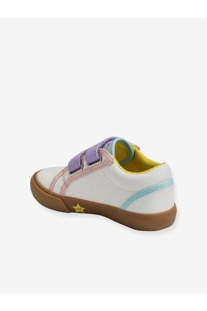 Vertbaudet Zapatillas con cierre autoadherente especial autonomía para niña medio liso con motivos