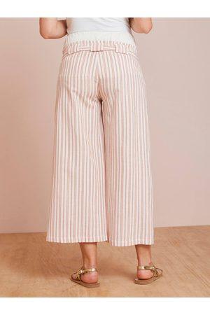 Vertbaudet Pantalón estilo falda pantalón de embarazo claro liso