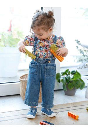 Vertbaudet Blusa estampada de mangas abullonadas para bebé claro estampado
