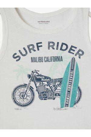 Vertbaudet Camiseta de tirantes con motivo surf, para niño claro liso con motivos