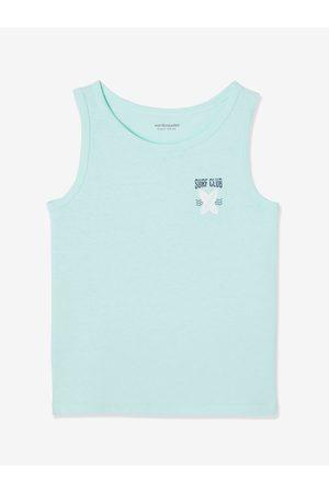 Vertbaudet Lote de 2 camisetas de tirantes con motivo surf y rayas para niño claro bicolor/