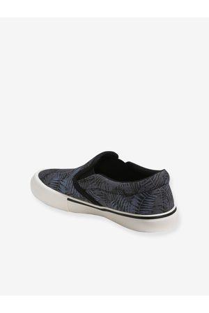 Vertbaudet Zapatillas slip-on para niño oscuro estampado