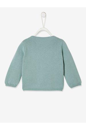 Vertbaudet Chaqueta cruzada bebé recién nacido de punto tricot de algodón bio claro liso