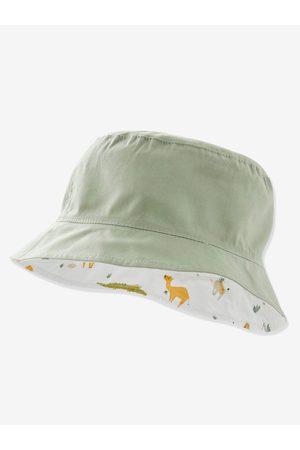 Vertbaudet Sombrero bob reversible con animales, para bebé niño claro estampado