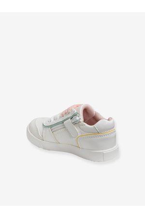 Vertbaudet Zapatillas con cordones y cremalleras, para bebé niña claro liso con motivos