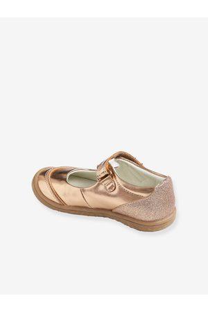 Vertbaudet Zapatos tipo babies con cierre autoadherente, especial autonomía medio metalizado