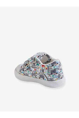 Vertbaudet Zapatillas de tela con cierre autoadherente, bebé niño claro estampado