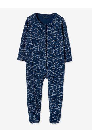 Vertbaudet Lote de 2 pijamas bebé 100% algodón motivo ballenas oscuro bicolor/