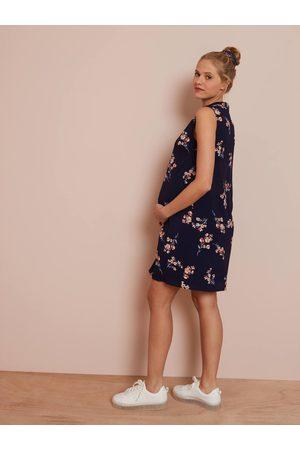 Vertbaudet Vestido sin mangas de embarazo oscuro estampado