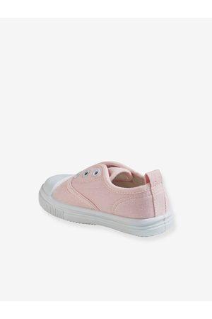 Vertbaudet Zapatillas elásticas de tela, para bebé niña claro liso