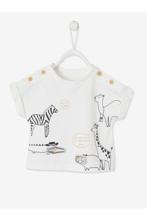 Vertbaudet Conjunto de camiseta Selva y pantalón de gasa de algodón, para bebé claro liso con motivos