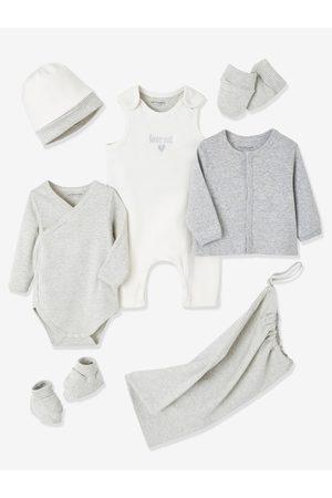 Vertbaudet Conjunto para recién nacido personalizable con 6 prendas y bolso claro bicolor/