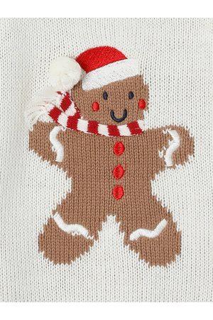 Vertbaudet Jersey de Navidad unisex Muñeco de jengibre, para bebé claro liso con motivos