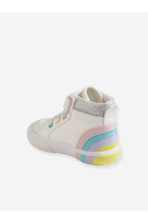 Vertbaudet Zapatillas de caña alta para bebé niña claro liso con motivos
