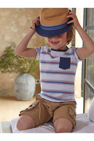 Vertbaudet Sombrero estilo borsalino, para niño medio a rayas