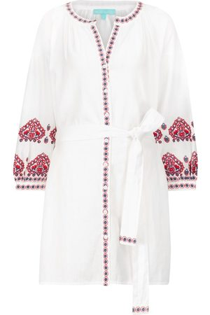 Melissa Odabash Exclusivo en Mytheresa – caftán Tania de algodón y lino