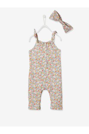 Vertbaudet Conjunto de mono y cinta para el cabello para bebé niña de felpa claro estampado