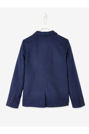 Vertbaudet Chaqueta de ceremonia de algodón y lino para niño oscuro liso con motivos